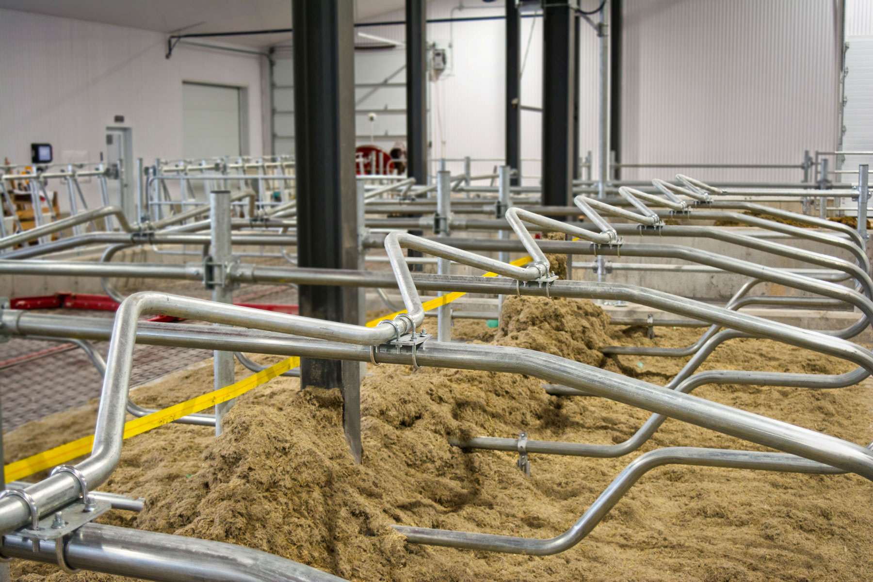 logette barre de cou en m installation agricole laitière / Équipements PFB