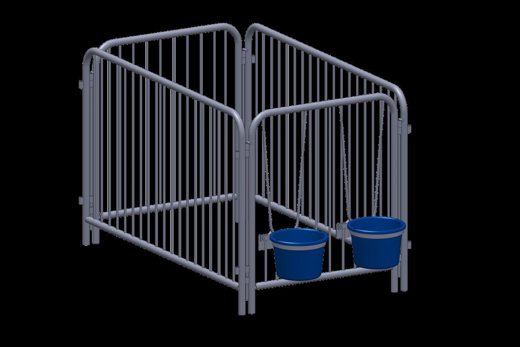 cage à veau en acier pour production laitière - installation agricole / Équipements PFB