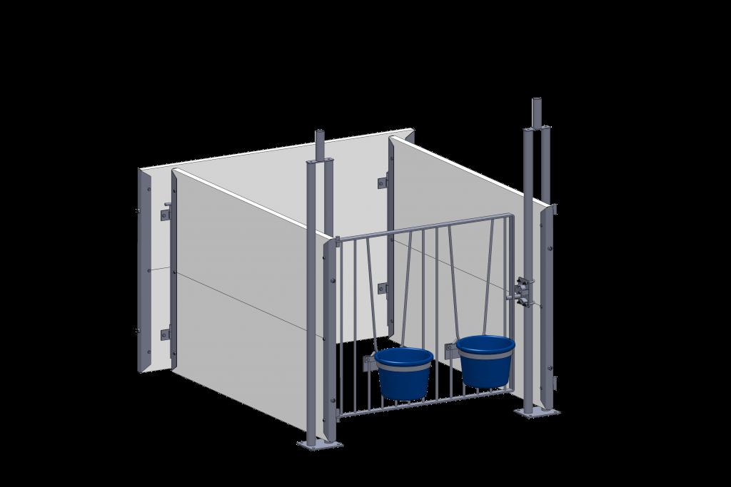 cage à veau en plastique pour production laitière - installation agricole / Équipements PFB
